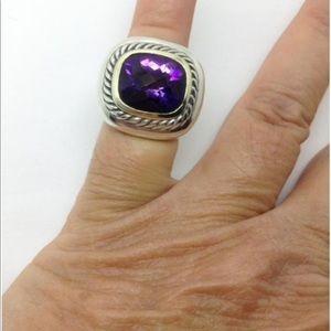 David Yurman sterling silver 14k amethyst ring